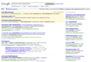 Recherche Google Juillet 2010