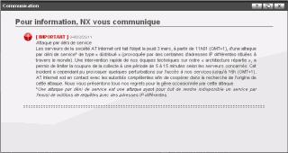 Annonce d attaque par deni de service des serveurs XiTi