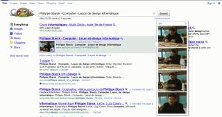 Vidéo affichée dans Google instant preview