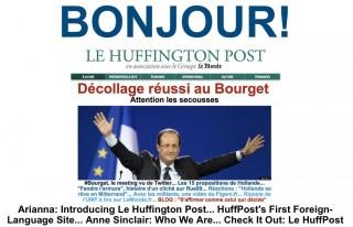 Hommage de l'édtion US du Huffington Post au lancement français