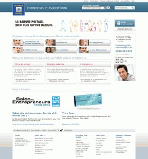 site Web Entreprises et Associations - La Banque Postale